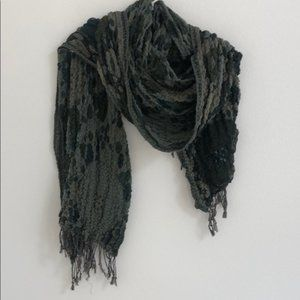 Unbranded Green Ruched Scarf